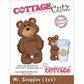 "CottageCutz Die 3""x3"" - Mr. Snuggles"