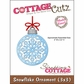 "CottageCutz Die 3""x3"" - Snowflake Ornament Made Easy"