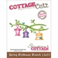 "CottageCutz Die 3""x3"" - Spring Birdhouse Branch Made Easy"