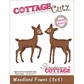 "CottageCutz Die 3""x3"" - Woodland Fawns"