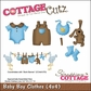 "CottageCutz Die 4""x4"" - Baby Boy Clothes"