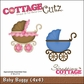 "CottageCutz Die 4""x4"" - Baby Buggy"