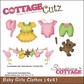 "CottageCutz Die 4""x4"" - Baby Girl Clothes"