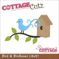 "CottageCutz Die 4""x4"" - Bird & Birdhouse"