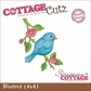 "CottageCutz Die 4""x4"" - Bluebird"