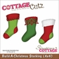 "CottageCutz Die 4""x4"" - Build-A-Christmas Stocking"