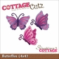 "CottageCutz Die 4""x4"" - Butterflies"
