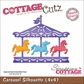 "CottageCutz Die 4""x4"" - Carousel Silhouette Made Easy"