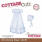 "CottageCutz Die 4""x4"" - Christening Gown Made Easy"