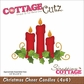 "CottageCutz Die 4""x4"" - Christmas Cheer Candles"