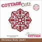 "CottageCutz Die 4""x4"" - Christmas Doily Made Easy"
