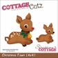 "CottageCutz Die 4""x4"" - Christmas Fawn"