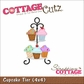 "CottageCutz Die 4""x4"" - Cupcake Tier"