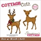 "CottageCutz Die 4""x4"" - Deer With Wreath Made Easy"