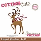 "CottageCutz Die 4""x4"" - Elegant Reindeer Made Easy"