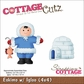 "CottageCutz Die 4""x4"" - Eskimo With Igloo"