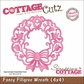 "CottageCutz Die 4""x4"" - Fancy Filigree Wreath Made Easy"