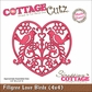 "CottageCutz Die 4""x4"" - Filigree Love Birds Made Easy"