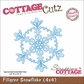 "CottageCutz Die 4""x4"" - Filigree Snowflake Made Easy"