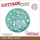 "CottageCutz Die 4""x4"" - Floral Doily Made Easy"