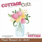 "Cottagecutz Die - 4X4"" Flower Bouquet Jar"""
