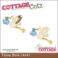 "CottageCutz Die 4""x4"" - Flying Stork"