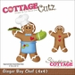 "CottageCutz Die 4""x4"" - Ginger Boy Chef"