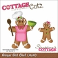 "CottageCutz Die 4""x4"" - Ginger Girl Chef"