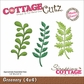 "CottageCutz Die 4""x4"" - Greenery"