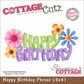 "CottageCutz Die 4""x4"" - Happy Birthday Phrase Made Easy"