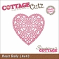 "CottageCutz Die 4""x4"" - Heart Doily"