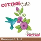 "CottageCutz Die 4""x4"" - Hummingbird"