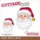 "CottageCutz Die 4""x4"" - Jingle Santa"