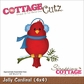 "CottageCutz Die 4""x4"" - Jolly Cardinal"