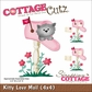 "CottageCutz Die 4""x4"" - Kitty Love Mail"