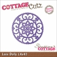 "CottageCutz Die 4""x4"" - Lace Doily Made Easy"