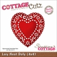 "CottageCutz Die 4""x4"" - Lacy Heart Doily Made Easy"