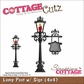 "CottageCutz Die 4""x4"" - Lamp Post With Sign"