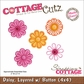 "CottageCutz Die 4""x4"" - Layered Daisy With Button Made Easy"