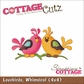 "CottageCutz Die 4""x4"" - Lovebirds"