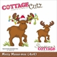 "CottageCutz Die 4""x4"" - Merry Moose - Mas"