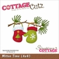 "CottageCutz Die 4""x4"" - Mitten Time"