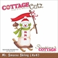 "CottageCutz Die 4""x4"" - Mr. Smores Skiing"