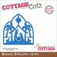 "CottageCutz Die 4""x4"" - Nativity Silhouette Made Easy"