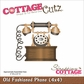 "CottageCutz Die 4""x4"" - Old Fashioned Phone"