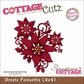 "CottageCutz Die 4""x4"" - Ornate Poinsettia Made Easy"