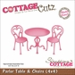 "CottageCutz Die 4""x4"" - Parlor Table & Chairs Made Easy"