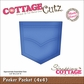 "CottageCutz Die 4""x4"" - Peeker Pocket Made Easy"