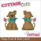 "CottageCutz Die 4""x4"" - Puppy Front & Back"