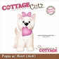 "CottageCutz Die 4""x4"" - Puppy w/Heart Made Easy"